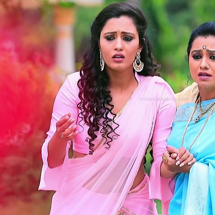 Neha Gowda Kannada tv actress Lakshmi BS1 2 hot saree photo