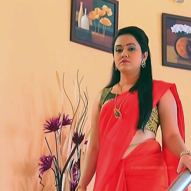 Sindhu Kalyan kannada tv actress PuttaGMS2 7 hot saree caps