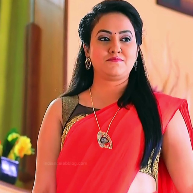 Sindhu Kalyan kannada tv actress PuttaGMS2 8 hot saree caps