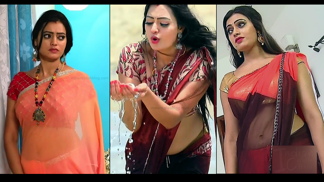 Sowmya rao nadig hot saree navel tamil tv hd caps