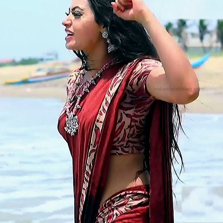 Sowmya rao Tamil tv actress Nenjam MS1 9 hot sari pics