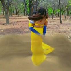 Malavika wales tamil tv actress Nandini S1 17 hot saree caps