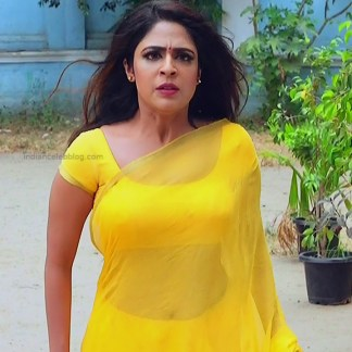 Malavika wales tamil tv actress Nandini S1 5 hot sari photo