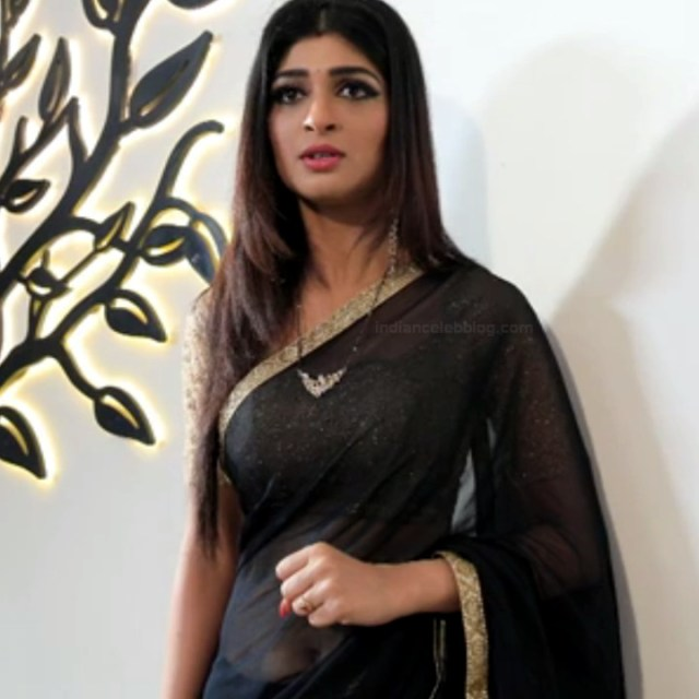 Aditi prabhudeva kannada tv actress Nagakannike S1 13 hot saree photo
