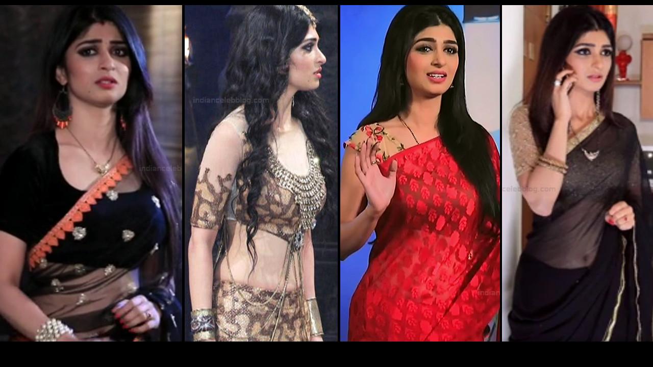 Aditi Prabhudeva hot saree Caps from Naagakannike serial