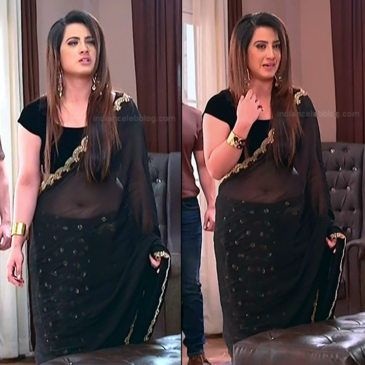 Aalisha Panwar sexy backless transparent saree HD tv caps
