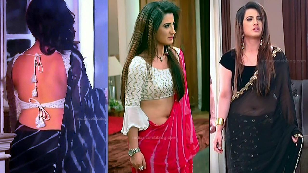 Aalisha Panwar sexy backless transparent saree HD tv caps