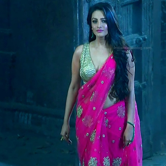 Anita hassanandani hindi tv actress Naagin S1 18 hot saree caps