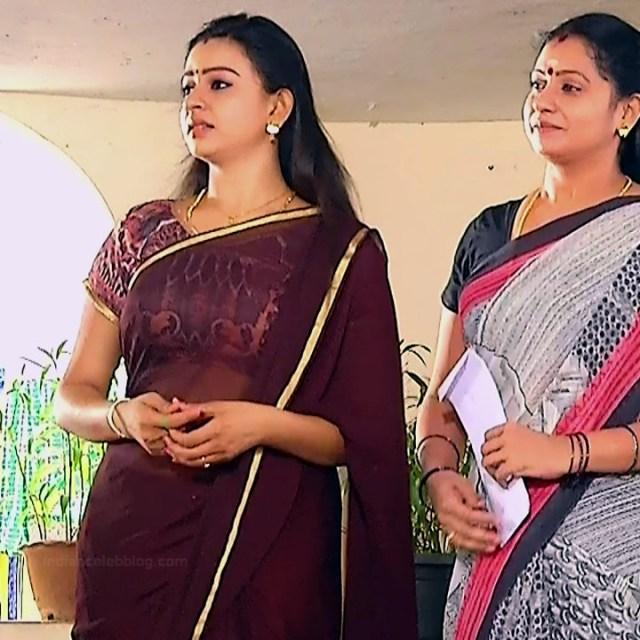 Divya ganesh tamil serial actress sumangali S4 8 sari caps