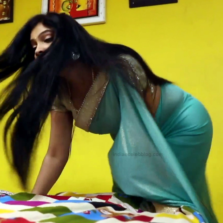 Kavitha tamil tv actress Neeli S1 14 hot saree caps