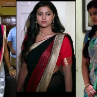 Kavitha gowda Tamil TV hot Saree Caps from Neeli serial