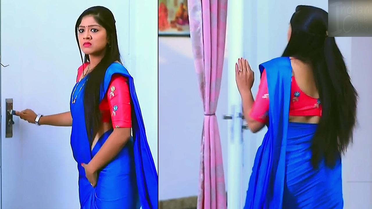 Meghana shankarappa kannada serial actress kinnari 4 saree pics