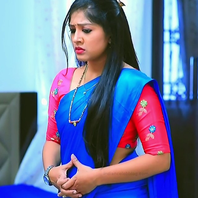 Meghana shankarappa kannada serial actress kinnari 8 sari photo