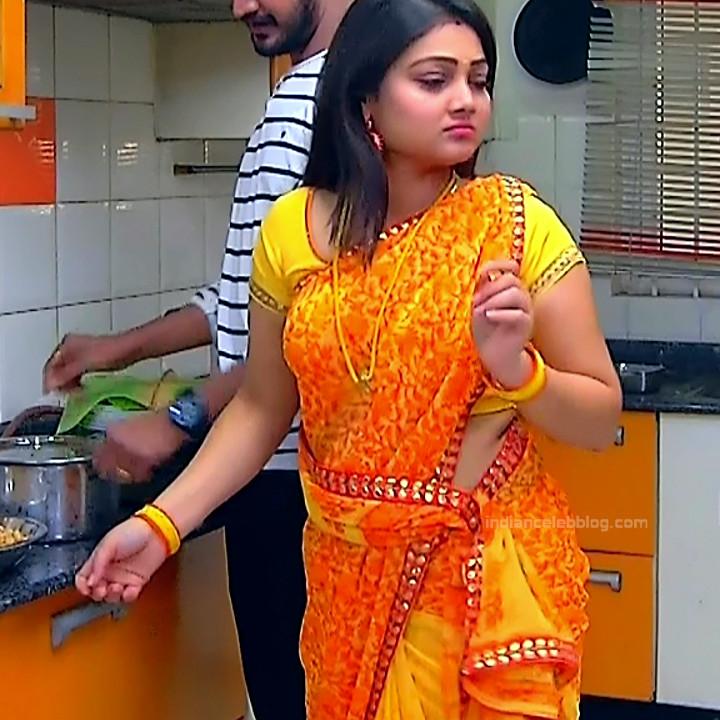 Priyanka nalkar tamil serial actress roja s1 12 hot saree photo