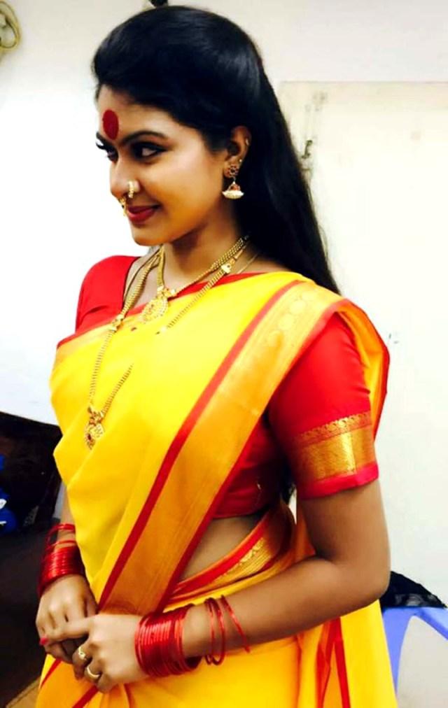 Rachitha mahalakshmi tamil tv actress saravanan MS2 11 sari photo