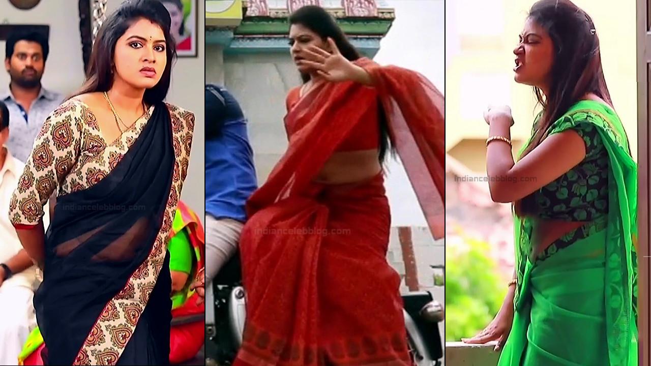 Rachitha Mahalakshmi sari navel show tamil tv hd caps