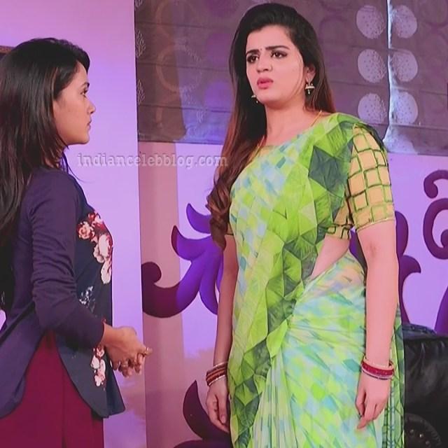 Aishwarya gowda telugu tv actress Akka MS1 7 sari photo