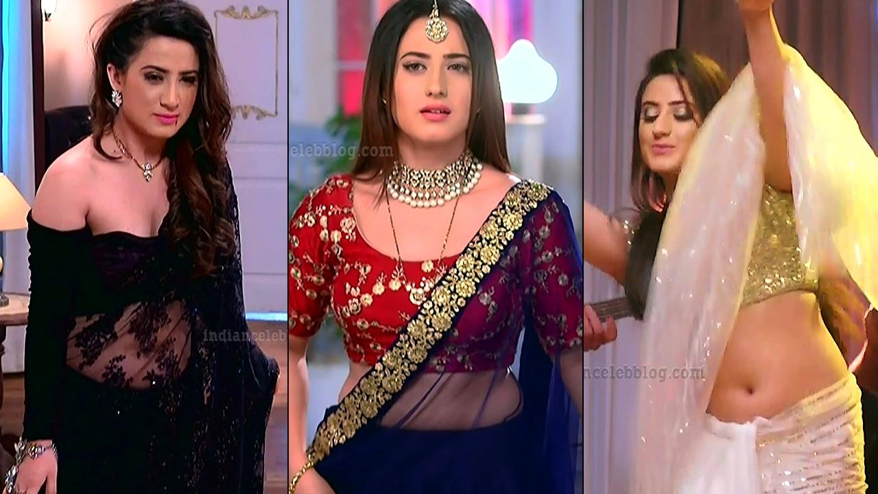 Alisha Panwar hindi tv hot low waist saree navel Caps