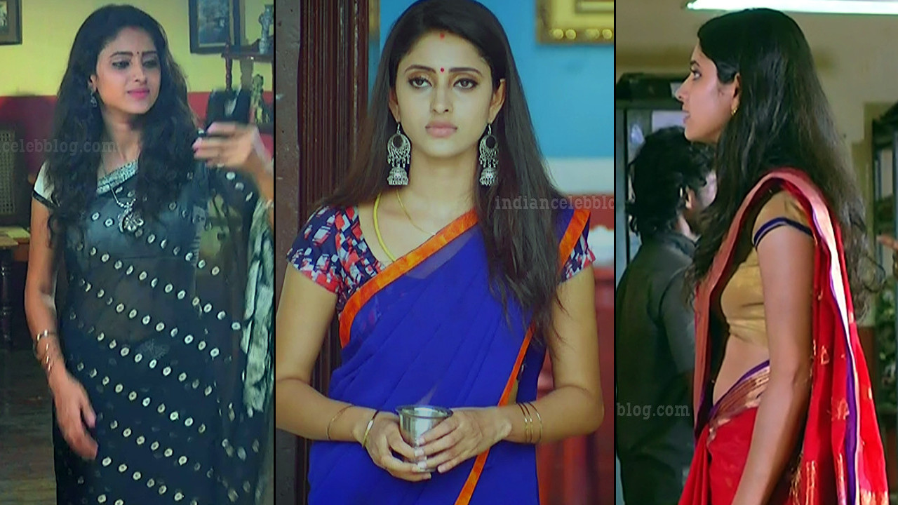 Ayesha Maya tamil serial actress hot sari Pics n Caps