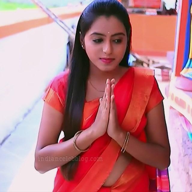 Deepika aradhya kannada TV actress Bili Hendthi S1 14 Saree pics