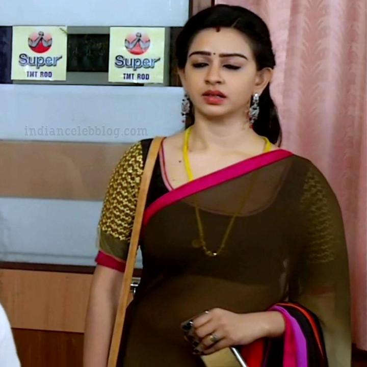 Divya ganesh tamil tv actress sumangali S5 16 saree caps