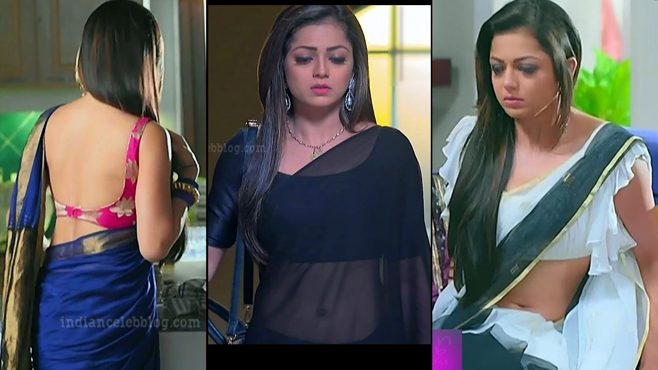 Drashti Dhami sexy navel n sleeveless saree hd tv cap