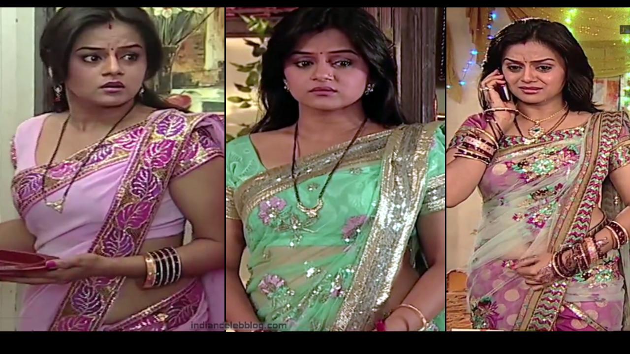 Jayshree Soni low waist saree navel show HD caps Niyati serial