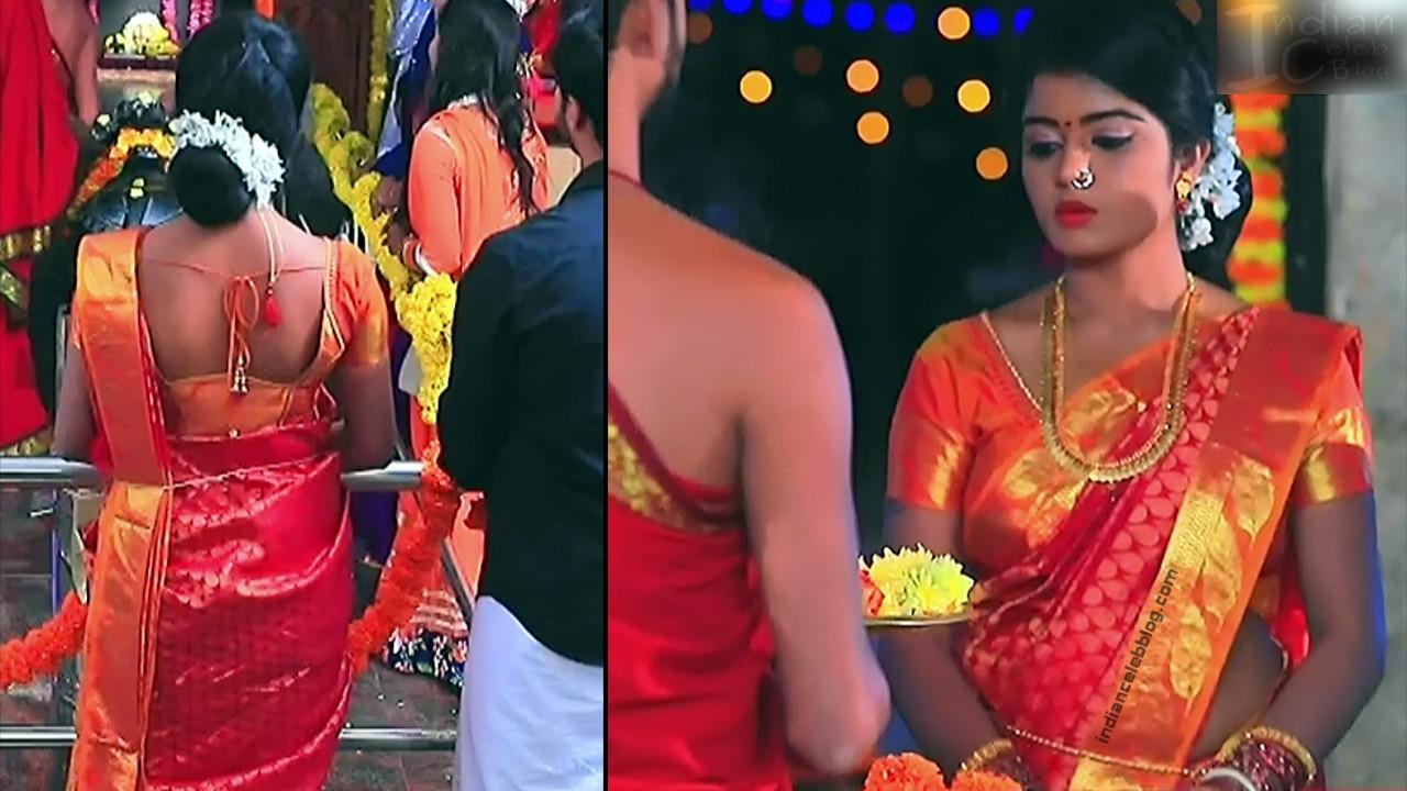 Kannada TV actress Kinnari Aishwarya S1 15 saree pics