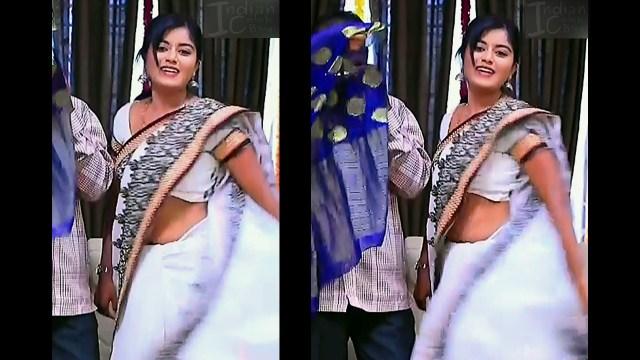 Kannada TV actress Kinnari S1 9 saree pics