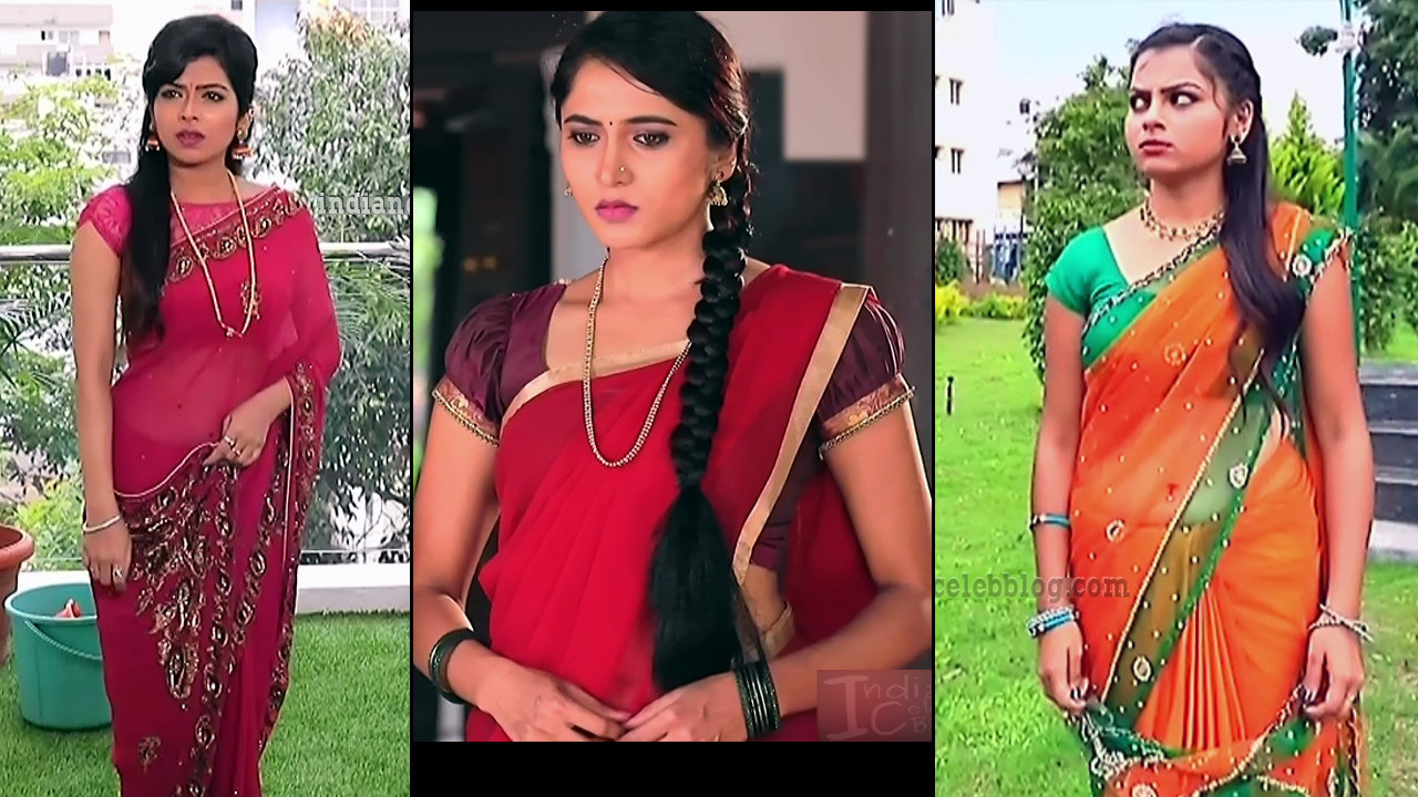 Kannada TV actress hot saree navel Caps Mix