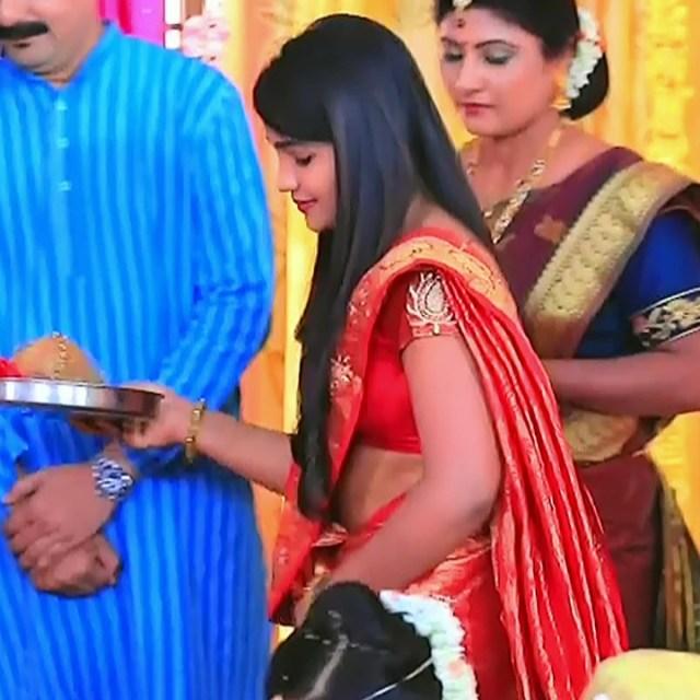 Kannada tv serial actress MiCmpl5 2 saree caps