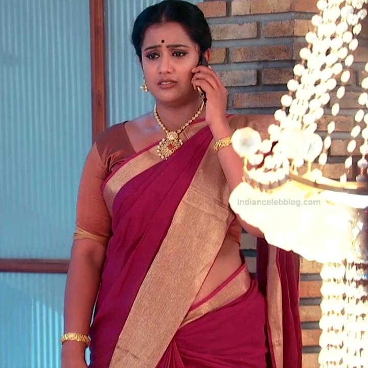 Sravani telugu tv actress Akka MS1 15 hot saree photo