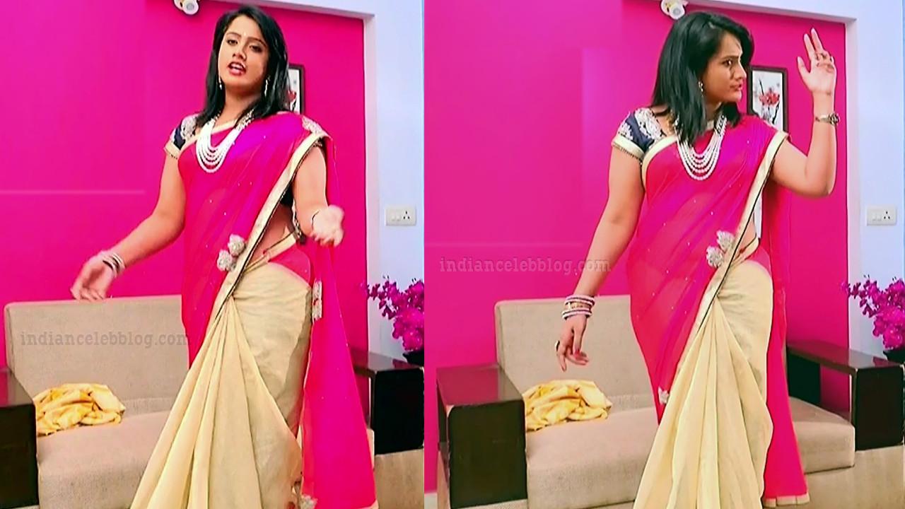 Sravani telugu tv actress Akka MS1 5 hot saree pics