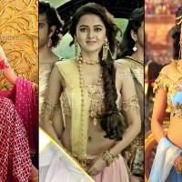 Tejaswi Prakash hot low waist navel show Karn sangini tv caps