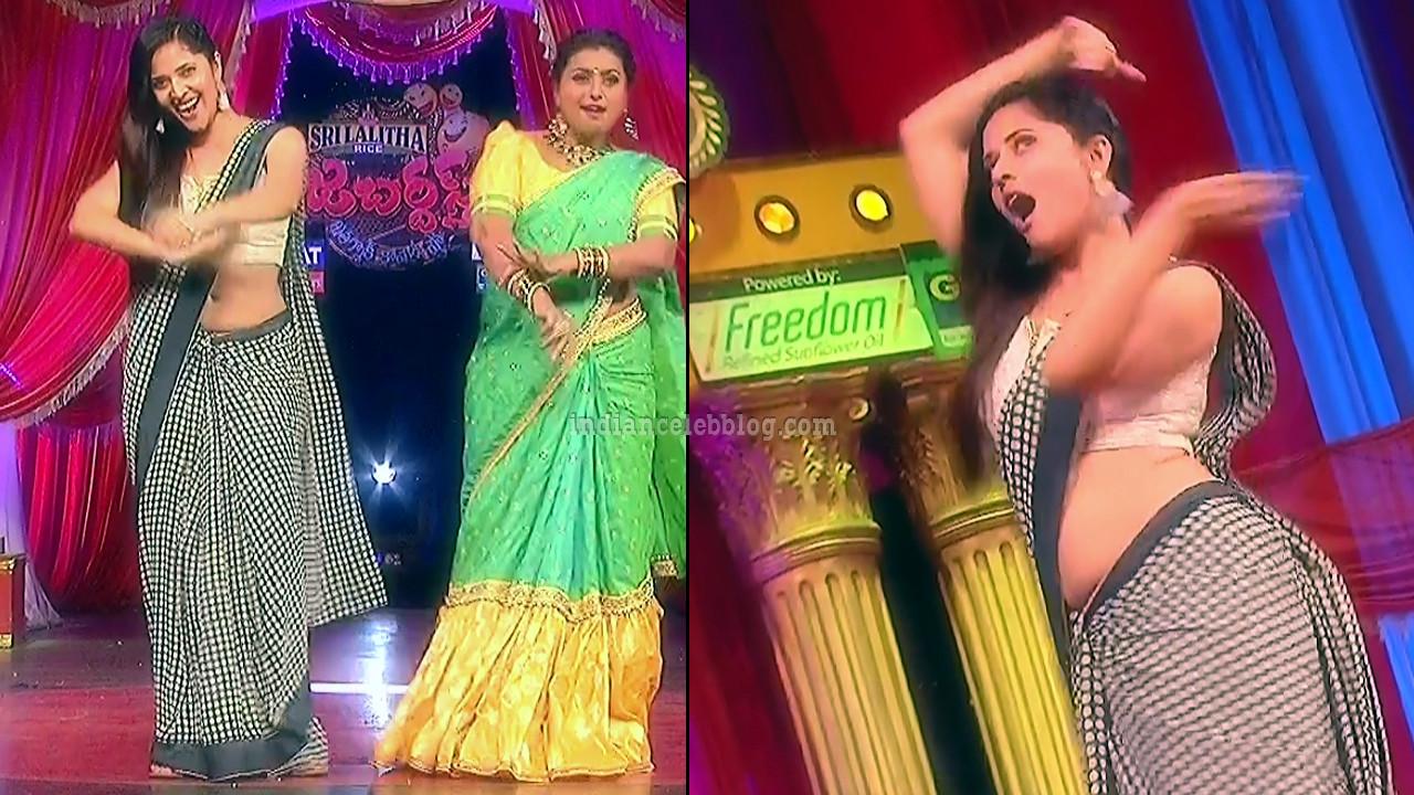 Anasuya teleugu TV anchor Reality show 2 hot saree dance
