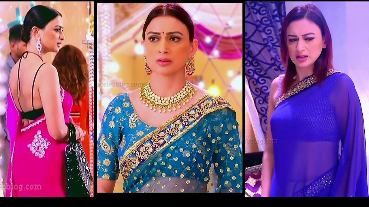 Gauri pradhan hot sleeveless blouse saree hindi tv caps