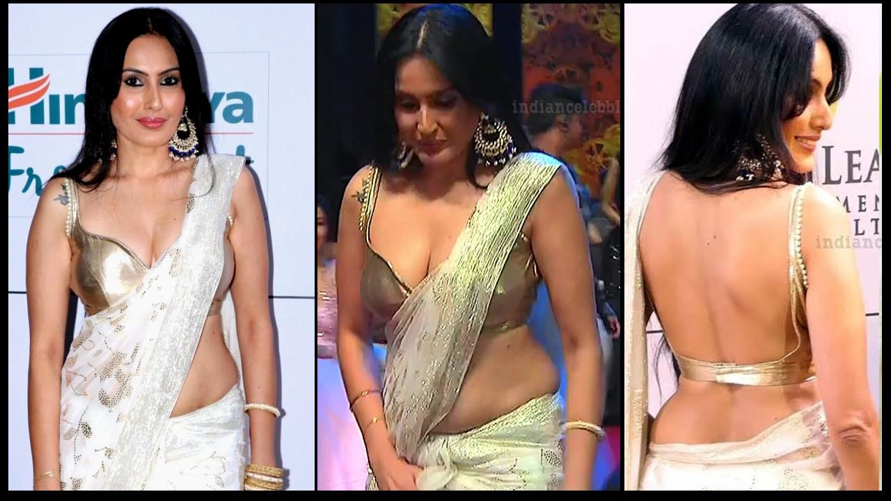Kamya panjabi sexy cleavage n backless show hindi tv event pics