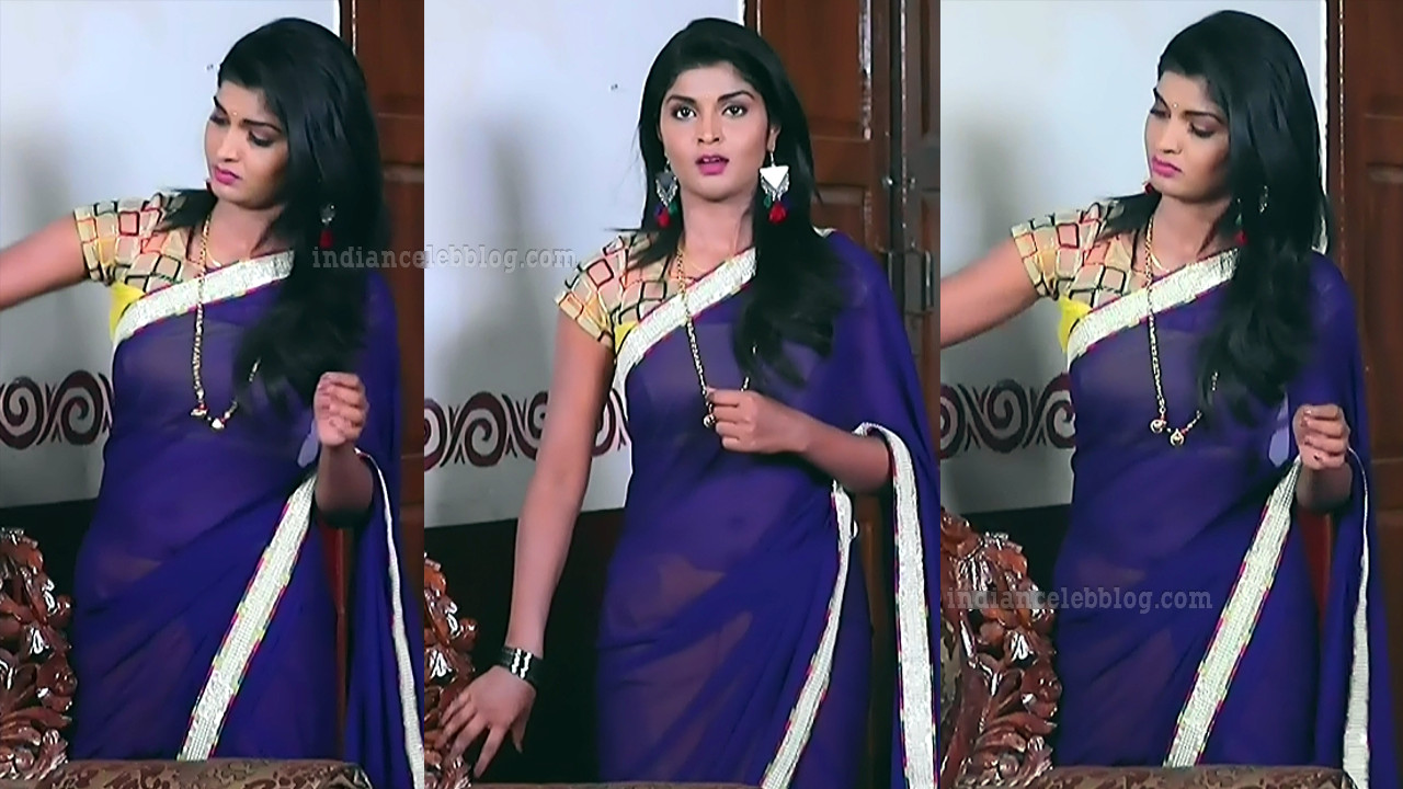 Manya anand kannada TV actress BiliHS2 4 hot saree pics