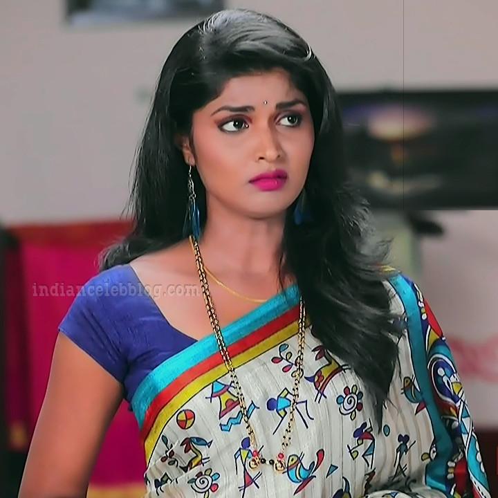 Manya anand kannada TV actress BiliHS2 8 sari photo