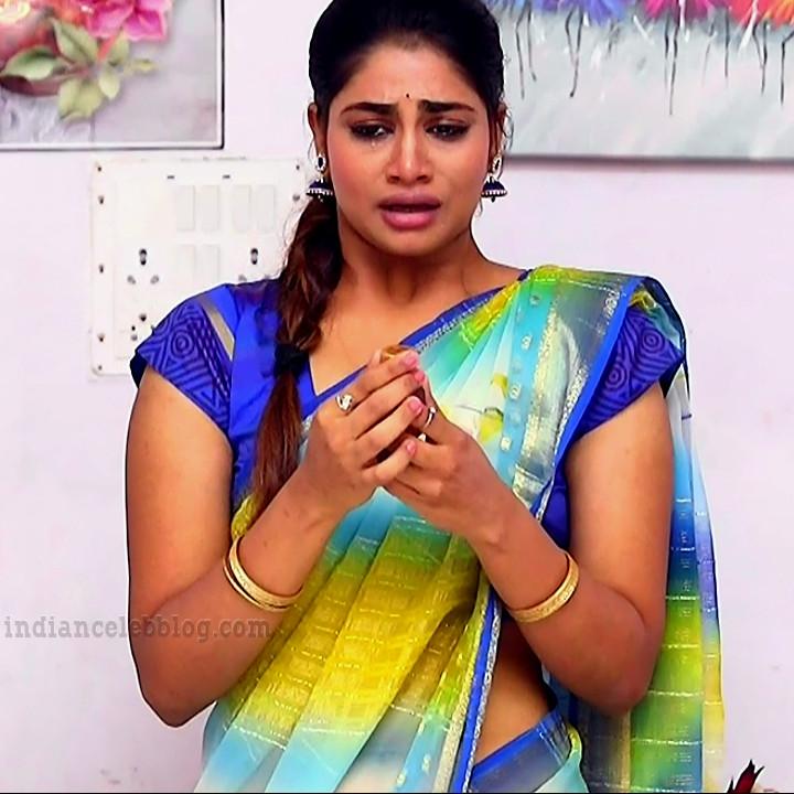 Shivani pagal nilavu S1 4 tamil tv serial actress saree photo