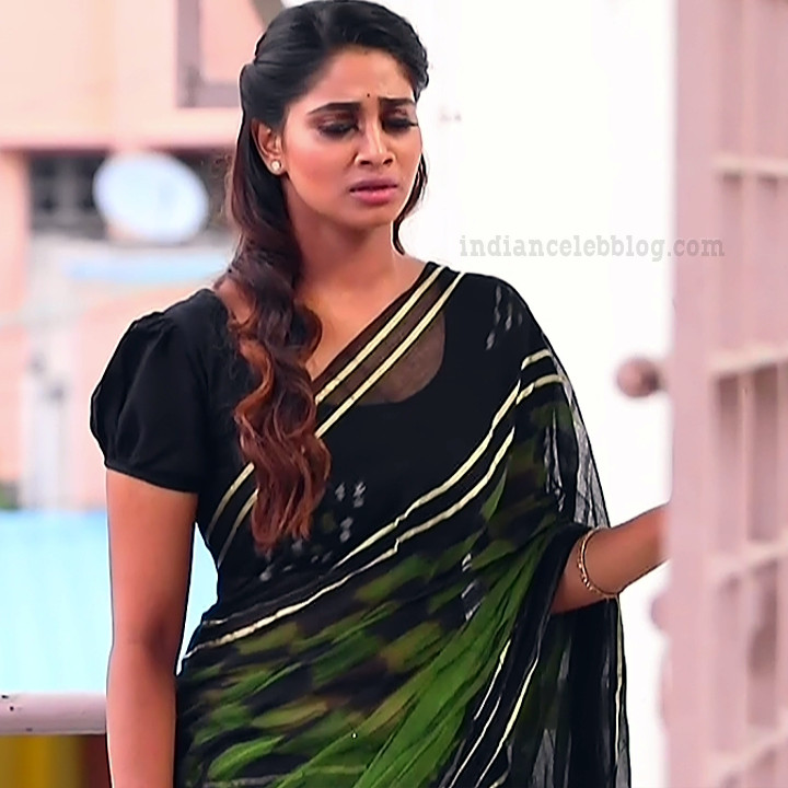 Shivani pagal nilavu S1 6 tamil tv serial actress saree photo