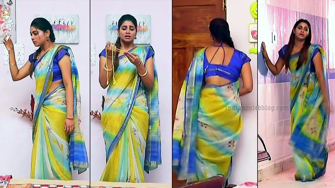 Shivani pagal nilavu S1 8 tamil tv serial actress sari pics