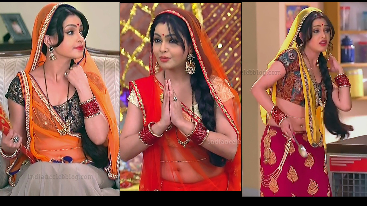 Shubhangi Atre  sexy pierced navel show hindi hd tv caps