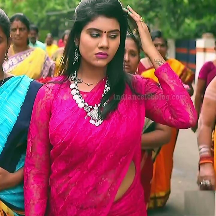 Nivisha tamil tv actress eeramana rojave s1 12 saree photo