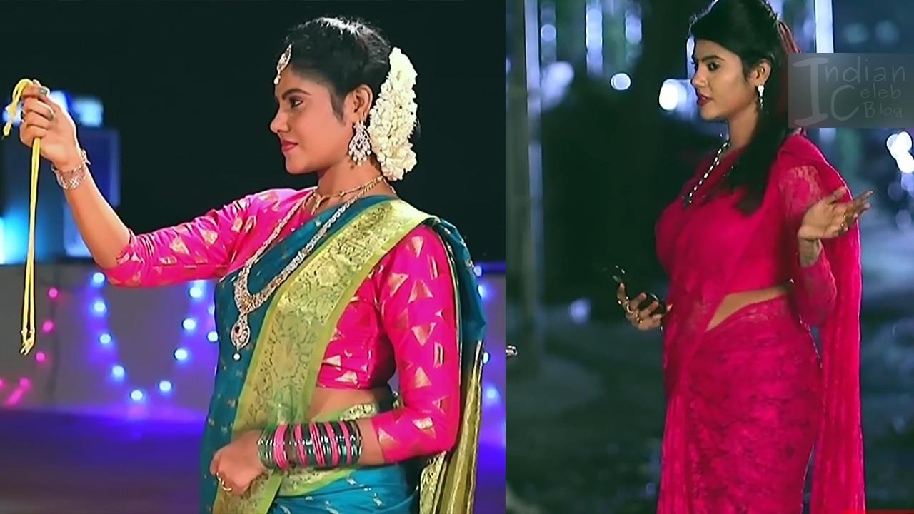 Nivisha tamil tv actress eeramana rojave s1 7 sari pics