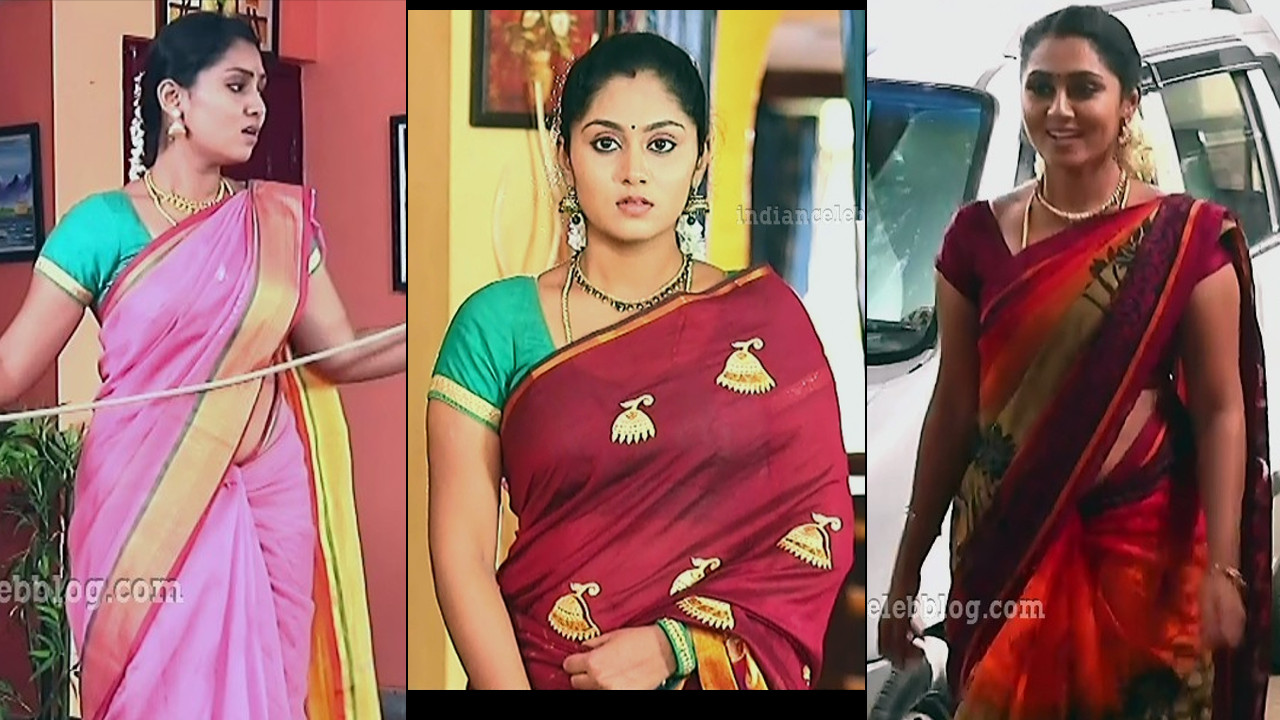 Sreethu Nair kalyanamam kalyanam serial actress saree caps