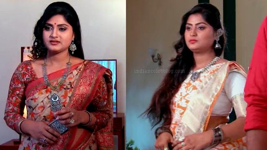 Tena Manasulu Telugu TV actress UKAS1 1 saree pics