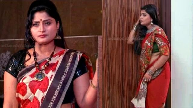 Tena Manasulu Telugu serial actress UKAS1 5 saree photo