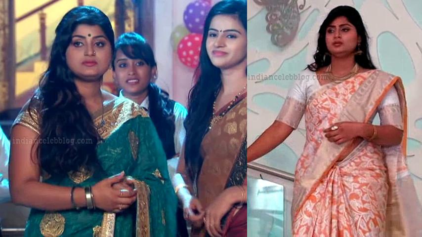 Tena Manasulu Telugu serial actress UKAS1 6 saree pics