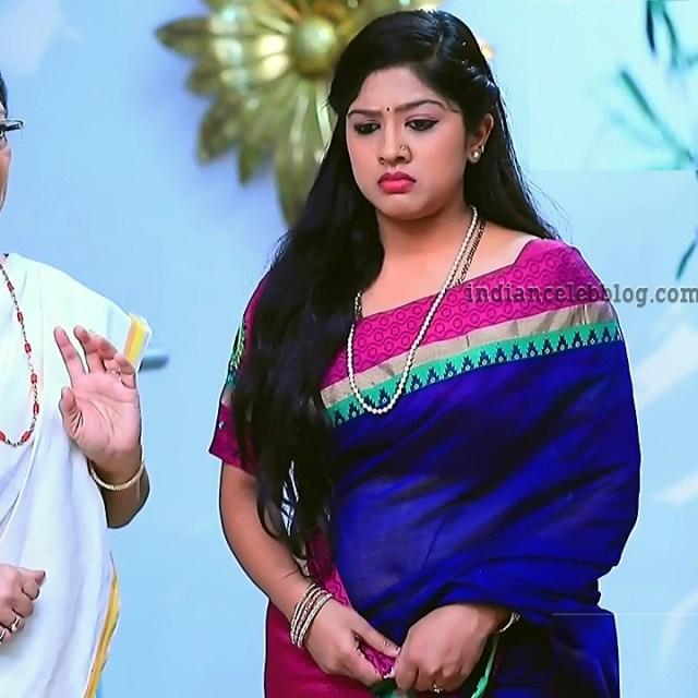 Meghana shankarappa kannada serial KinNS4 14 saree navel pic
